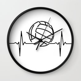 My Heart Beats for Volleyball Wall Clock