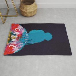 To Create, Woman. Abstract Rug