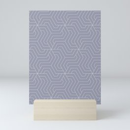 Manatee - grey - Modern Vector Seamless Pattern Mini Art Print