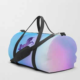 Purple Sparkly Unicorn Duffle Bag