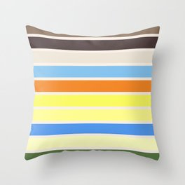 The colors of - to to ro Throw Pillow