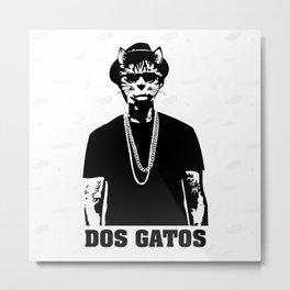 Dos Gatos Metal Print