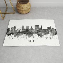 Lille France Skyline BW Rug