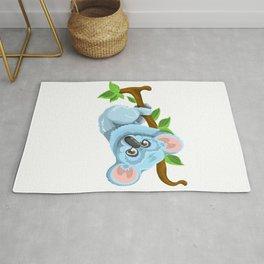 Blue Koala Cartoon Rug