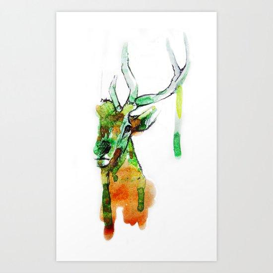 Deerface Art Print