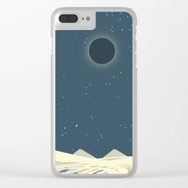 Total Solar Eclipse Art Clear iPhone Case