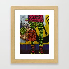 Fashion Mutts Framed Art Print