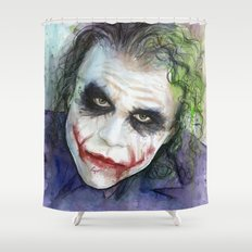 The Joker Watercolor Shower Curtain