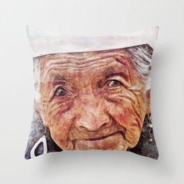 'Old Woman' Throw Pillow