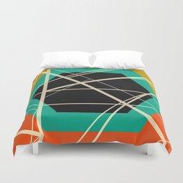 Crossroads - color hexagon Duvet Cover