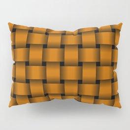 Dark Orange Weave Pillow Sham