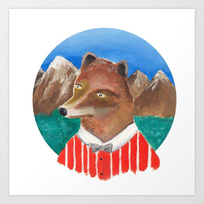 Fox of Lion Art Print