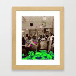 the Tempo of Bottoms up Framed Art Print