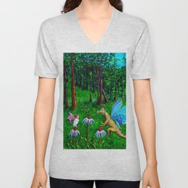 Discussion in the Woods Unisex V-Neck