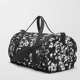 Black Night Glitter Stars #1 #shiny #decor #art #society6 Duffle Bag