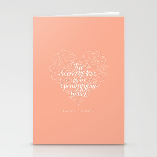Secret Of Love Stationery Cards