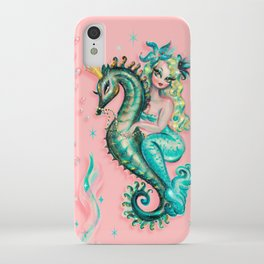 Mermaid Riding a Seahorse Prince iPhone Case