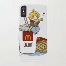 Hetalia - America Loves McDonalds  iPhone X Slim Case