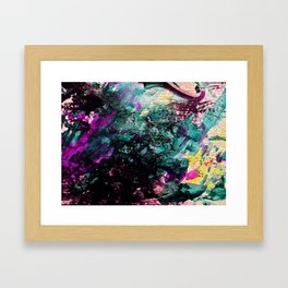 Textured Graffiti Print Framed Art Print