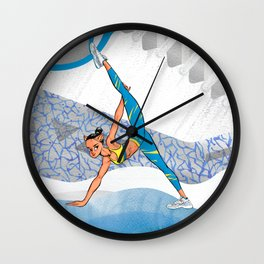 Sneaker Badge: Yoga girl Cool Noodle and Air Jordan 11 Wall Clock