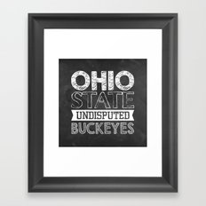 Undisputed Buckeyes Framed Art Print