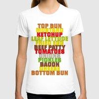 hamburger T-shirts featuring Hamburger by AURA-HYSTERICA
