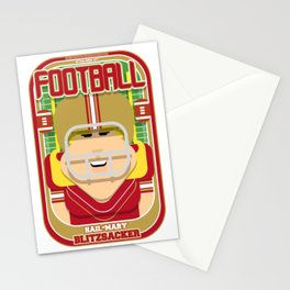 American Football Red and Gold - Hail-Mary Blitzsacker - Hazel version Stationery Cards