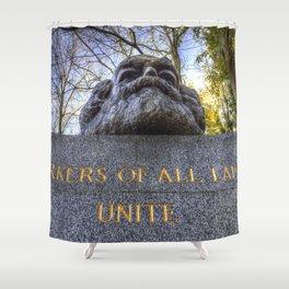 Karl Marx Memorial Shower Curtain