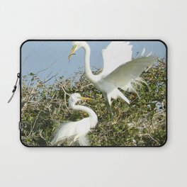 Bird Series: Nesting Great Egrets Laptop Sleeve