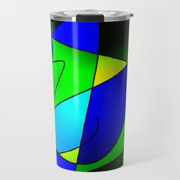 ABSTRACT CURVES #2 (Blues & Greens) Travel Mug
