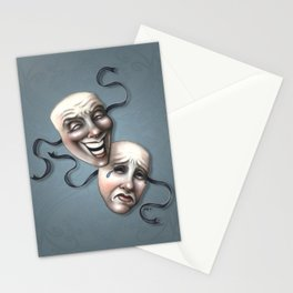 Comedy Tragedy Theater Masks Stationery Cards