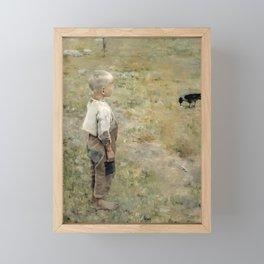 Akseli Gallen-Kallela - Boy with a Crow - Finnish Fine Art Framed Mini Art Print