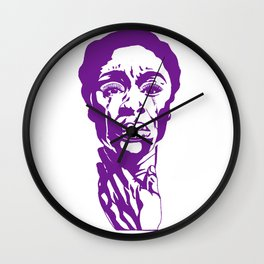 The Color Purple Wall Clock