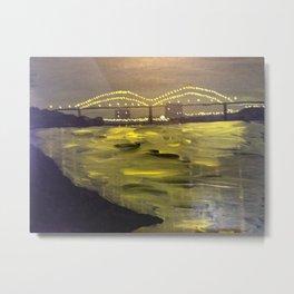 Memphis Skyline at Night Metal Print