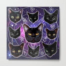 Satanic Cat Dark Gothic Black Kitty satan 666 death metal Metal Print