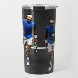 Nadal and Federer Doubles Travel Mug
