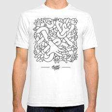 Hand Study Mens Fitted Tee White LARGE