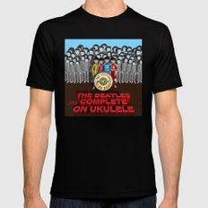 Sgt. Pepper's Lonely Hearts Club Band Black MEDIUM Mens Fitted Tee