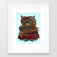 celtic Framed Art Prints featuring Celtic owl ! by oxana zaika