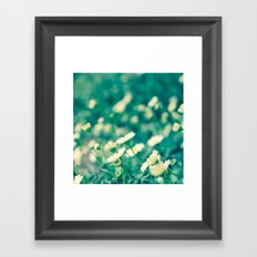 Looking at the sun Framed Art Print