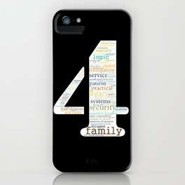 Life Path 4 (black background) iPhone Case