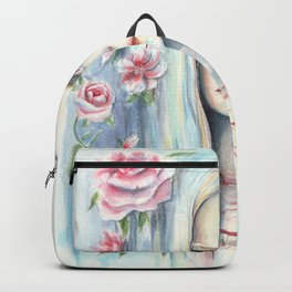 """Blossom"" Watercolour Surreal Fantasy Nymph Backpack"