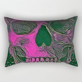 SKULL PINK Rectangular Pillow