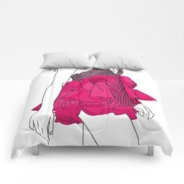 Pink dress Comforters