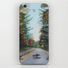 Turkey Crossing Autumn Trees Art iPhone Skin