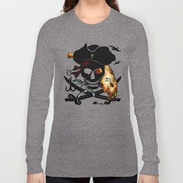Fishing with a Florida Pirate Long Sleeve T-shirt