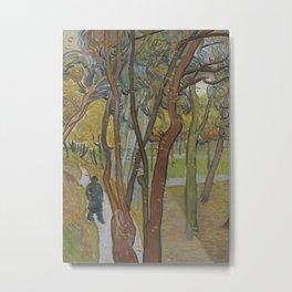 The Garden of Saint Paul's Hospital ('Leaf-Fall') Metal Print