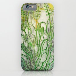Summer Herbs, Abstract Floral, Stone Texture iPhone Case