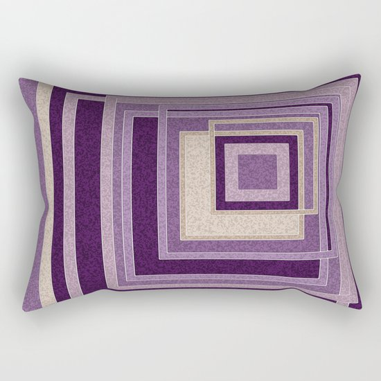 Abstract painting in purple and brown tones . Rectangular Pillow