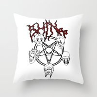 shinee Throw Pillows featuring KVLT SHINee by Julia C. Elliott